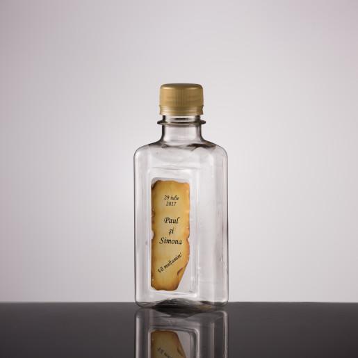 Sticla marturii plastic 200 ml dreptunghi