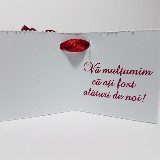 Eticheta - Card dublu perforat alb 11