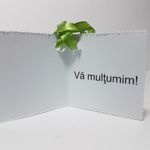 Eticheta - Card dublu perforat alb 19