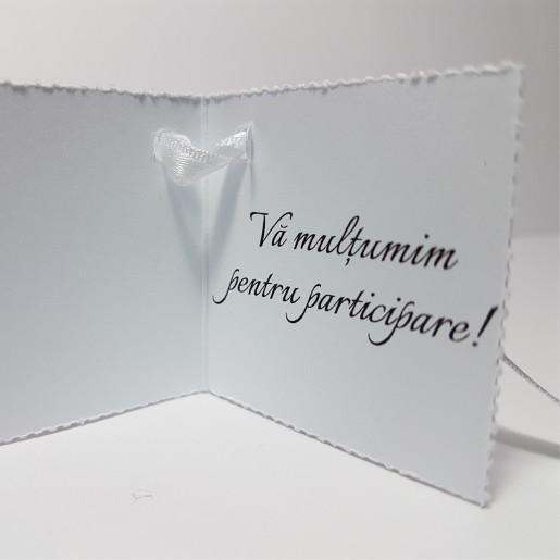 Eticheta - Card dublu perforat alb 27