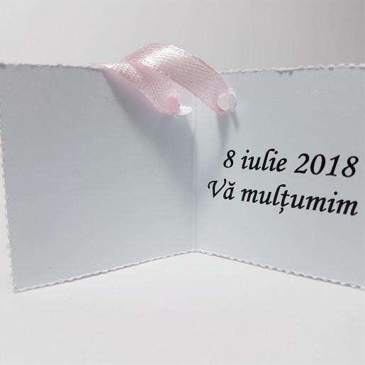 Eticheta - Card dublu perforat alb 38