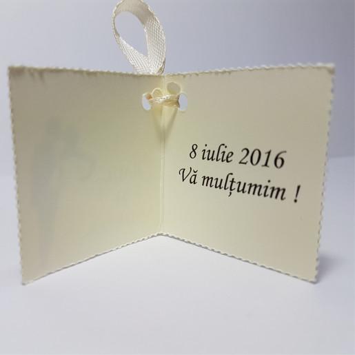 Eticheta - Card dublu perforat crem 44
