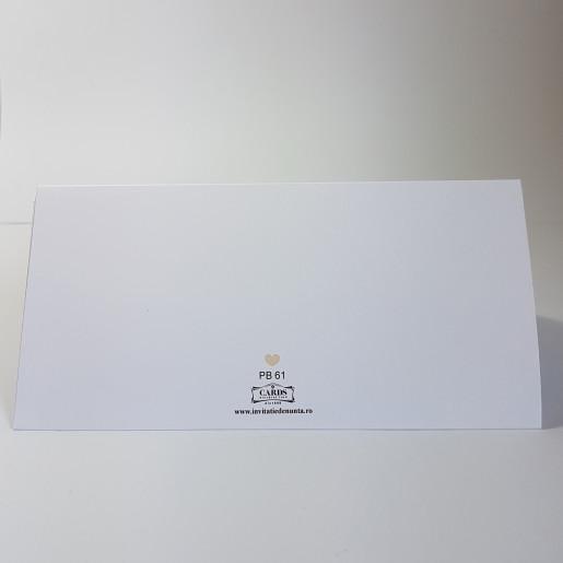 Plic pentru bani PB61 - Alb