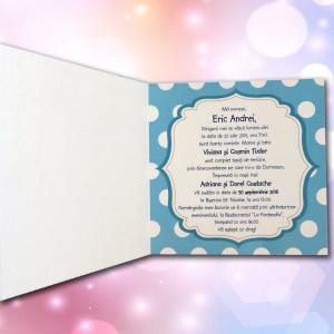 Invitatie de botez cu Mickey Mouse 107 LARA BABY - BEST