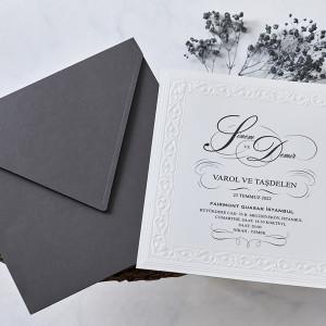 Invitatie de nunta cu dantela 1116 BUTIQLINE
