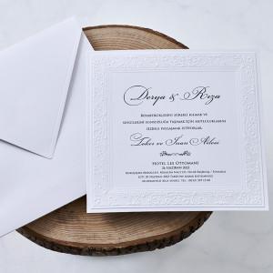 Invitatie de nunta cu dantela 1121 BUTIQLINE