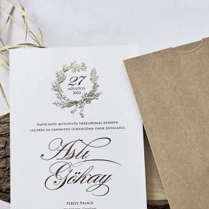 Invitatie de nunta eleganta 1132  BUTIQLINE