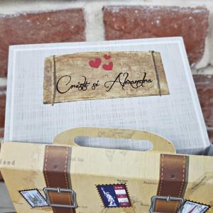 Invitatie de nunta valiza retro 11547 CONCEPT
