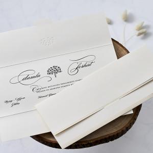 Invitatie de nunta cu inscriptii aurii 1156 BUTIQLINE