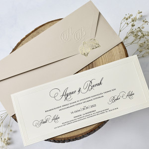Invitatie cu frunze aurii 1171 BUTIQLINE