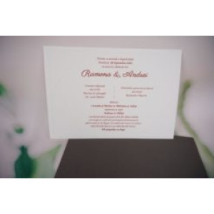 Invitatie de nunta clasica 1176 BUTIQLINE