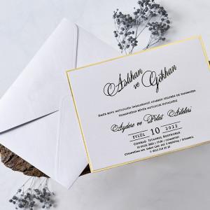Invitatie cu margini aurii 1179 BUTIQLINE