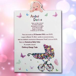 Invitatie de botez 125 LARA BABY - BEST