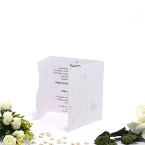Invitatie de nunta cu inimioare mov 131046 TBZ