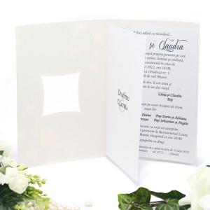 Invitatie de nunta eleganta cu flori de cires 140011 TBZ