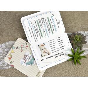 Invitatie de botez tip pasaport 15605 DELUXE