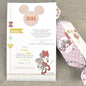 Invitatie de botez tip bomboana cu Minnie Mouse 15720 DELUXE
