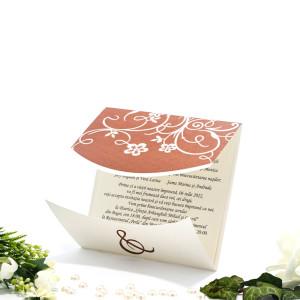 Invitatie de nunta florala maro 160048 TBZ