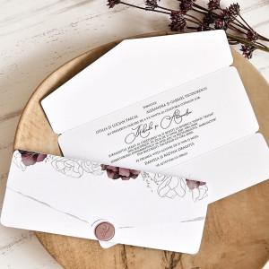 Invitatie de nunta plic romantic 39763 ECONOMIQ