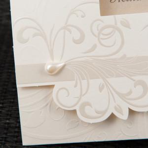 Invitatie de nunta eleganta cu motiv baroque 20804 STYLISH