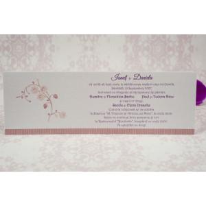 Invitatie de nunta eleganta roz prafuit 2185 STYLISH