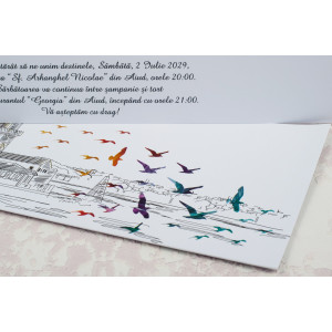 Invitatie de nunta model desen grafic 2186 STYLISH