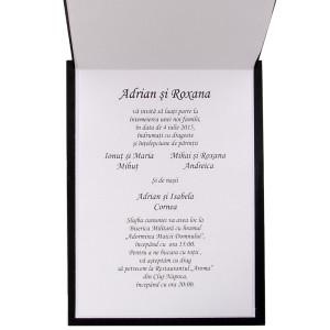 Invitatie de nunta PREMIUM din lemn cu mire si mireasa 26004 TBZ