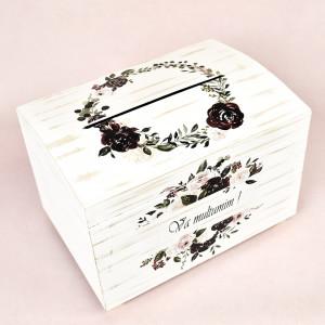 Cutie pentru dar din lemn cu trandafiri CT110 Economiq