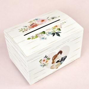 Cutie pentru dar din lemn romantica CT112 Economiq