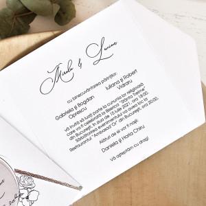 Invitatie de nunta vintage chic 39772 ECONOMIQ