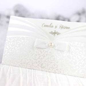 Invitatie eleganta ivory 39241 CLARA