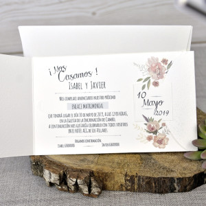 Invitatie eleganta florala 39331 EMMA