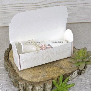 Invitatie 3D tip papirus cu model traditional 39347 EMMA