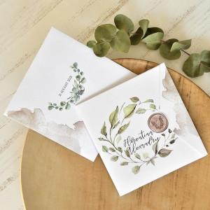 Invitatie de nunta cu frunze de eucalipt 39771 ECONOMIQ