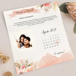 Invitatie florala tip calendar 39718 CLARA
