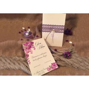 Invitatie cu model floral 52533 ELA