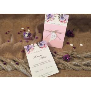 Invitatie cu flori 52541 ELA