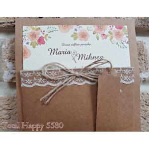 Invitatie de nunta cu model floral 5580 CONCEPT