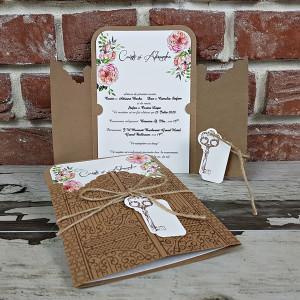 Invitatie de nunta cu cheita 5591 CONCEPT
