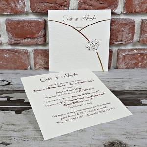Invitatie de nunta clasica cu inimioara 5624 CONCEPT