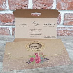 Invitatie de nunta florala vintage 5631 CONCEPT