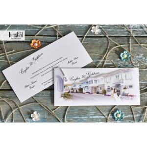 Invitatie de nunta cu miri 70156 KRISTAL