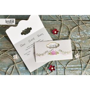 Invitatie de nunta florala cu auriu 70171 KRISTAL