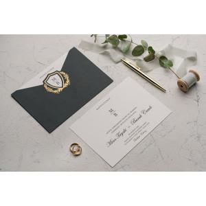 Invitatie de nunta chic verde 9137 EKONOM