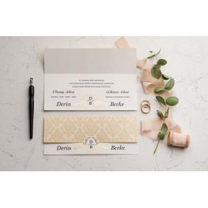 Invitatie de nunta baroc 9178 EKONOM