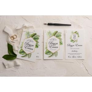 Invitatie de nunta cu frunze 9188 EKONOM