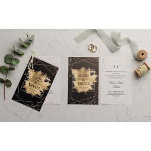 Invitatie de nunta cu crenguta verde 9169 EKONOM
