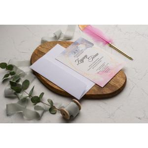 Invitatie de nunta acuarela 9203 EKONOM