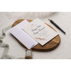 Invitatie de nunta cu pana 9204 EKONOM