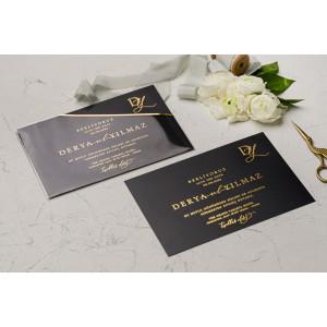 Invitatie de nunta cu plic transparent 9216 EKONOM